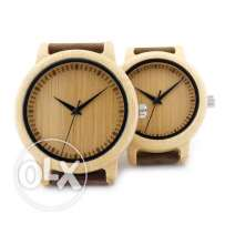 Stylish yet cheap bamboo wood watch for men/women