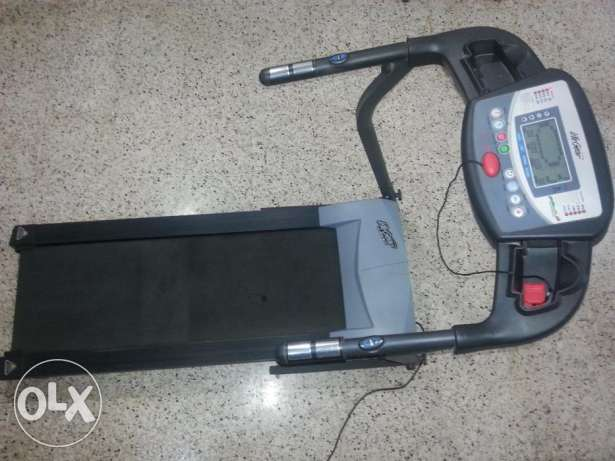 Tread Mill with Time, Speed,Distance,Calories,Pulse, Body Fat & slope روي -  1