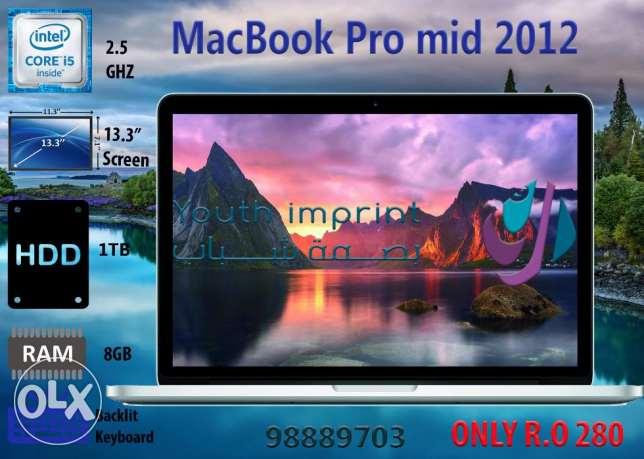 macbook pro 2012 /i5 /8GB/1TB
