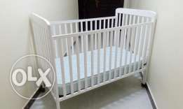 Baby Cot and bed(Junior), baby walker and bath tub