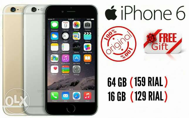 Apple iphone 6 16 and 64 gb with 5 gifts and warranty