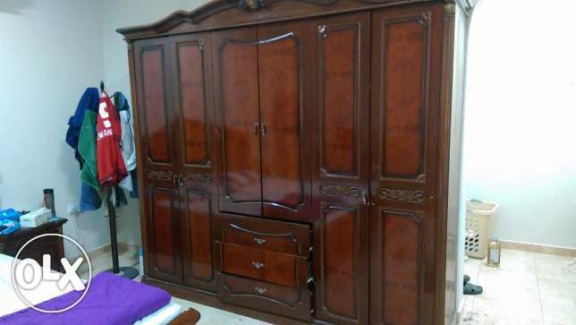 ((URGENT)) 6 Doors Cupboard + Dressing Table + 2 Clothes Stands