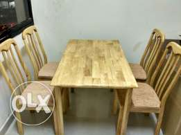 Dining table for four with chairs