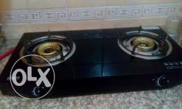 Glass top stove and 21 kg cylinder