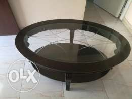 3 month old home centre glass coffee table for sale in 40 OMR.