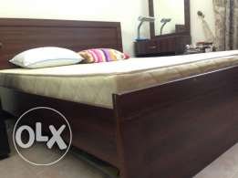 King Size Bed – Hard Wood – Used less than 3 years-Excellent Condition