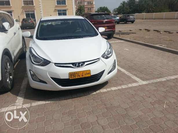 1.8 L Hyundai Elantra White Color 2014 Model Mulkiya renew on 11/05/17