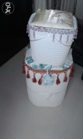Decorated laundry box and dustbin