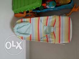 Junior Carry Cot + Mother Care Baby Bouncer