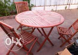 Out door table & chairs