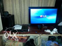 Lg lcd full hd 1080 p and Lg home theatre system only 55 ro