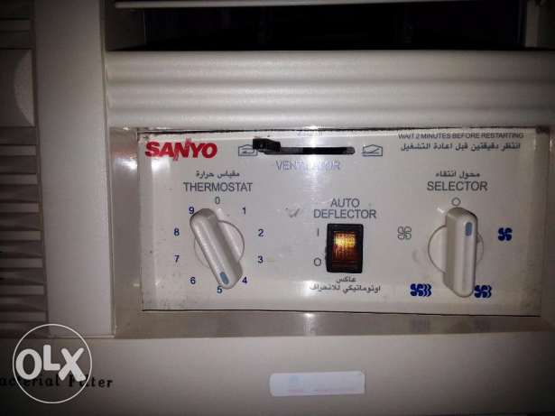 SANYO 1.5 Ton - Window AC (BIG Compressor) - Used مسقط -  2