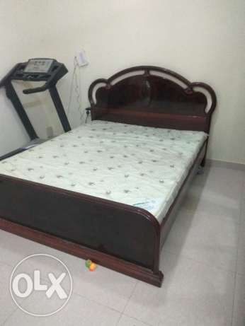Bed set with 6doors wardrobe