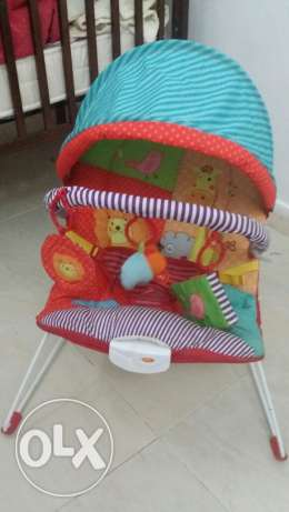 Baby cot include 6 pcs ( 2 bag , 1 holder , 2 cot large for outing