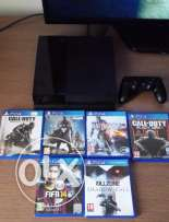 PlatStation 4 / 500GB / Black Colour with 6 Game