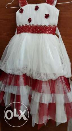 white combination party dresses for girls upto 3yrs