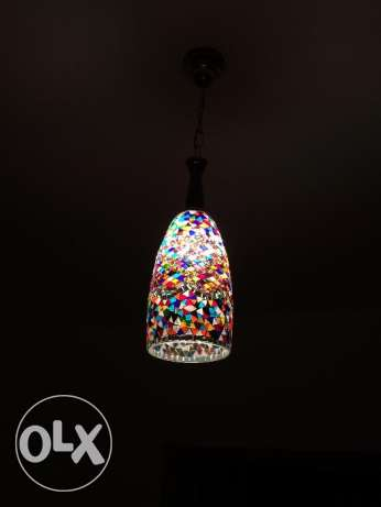 Beautiful colours on small oriental ceiling lamp (2 pieces) مسقط -  2