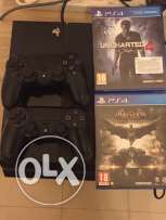 PS4 Console with 2 games
