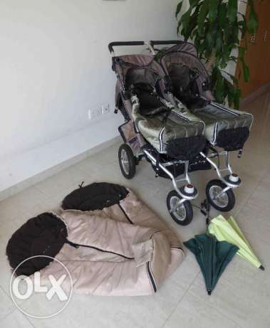 High-quality TFK double stroller / baby pram (convertible)