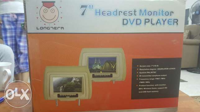 Head rest dvd 2 no.s in excellent condition