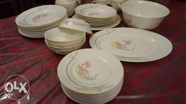 Arcopal Dinner set made in France. Very well maintained
