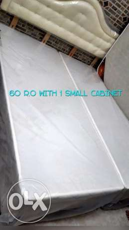 King size bed & mattress for 60 R.O w/ coffee table and small cabinet
