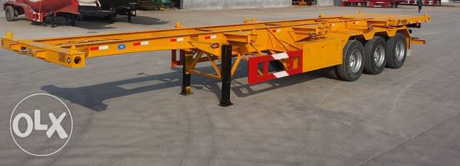 3 axle skeleton trailers with five years warranty of chassis