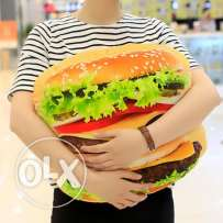 3d burger pillow