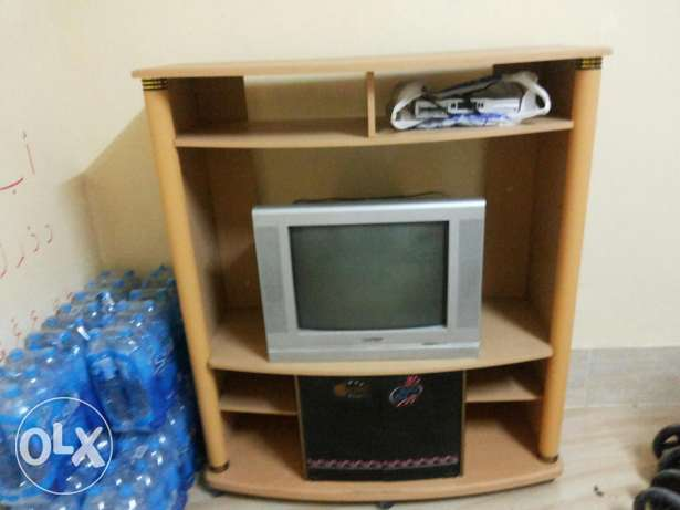 TV trolley with TV السيب -  1