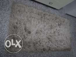 Creme colour Fluffy Carpet 150cm x 80cm