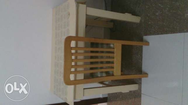 Dinning table with one chair