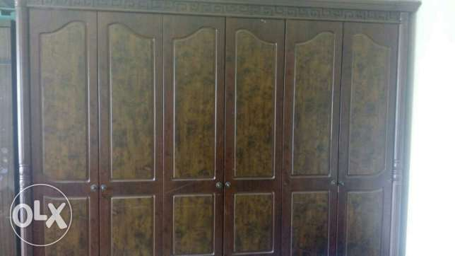 Wooden wardrobe with dressing table, and 4 side tables مسقط -  2
