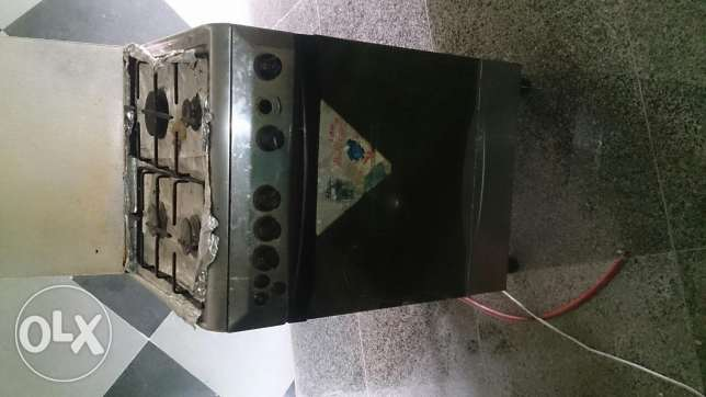 Gaz with oven and grill