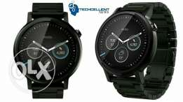 Moto 360 2nd Gen stainless steel variant black excellent condition