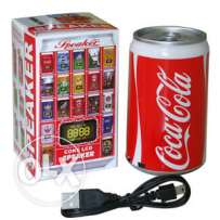 speaker with usb, mp3 option- soda can design