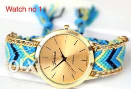 Beautiful coloured rope watches. a must have accessory
