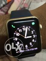 Apple Watch Sport brand 42mm gold color with clear coat protection