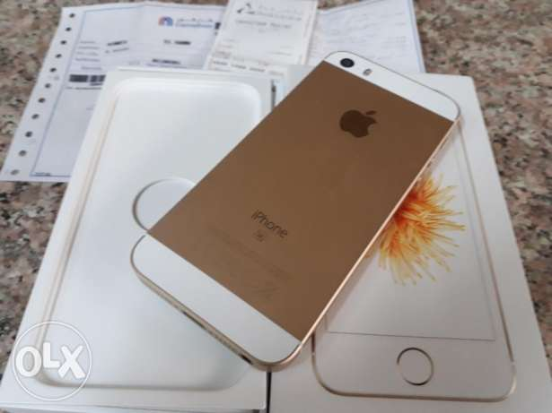 Iphone 5se gold same as new with Carrefour warranty 6 month