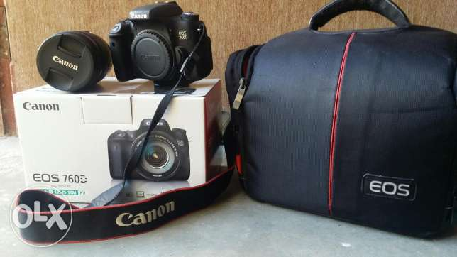 Canon 760D with lens 18_135
