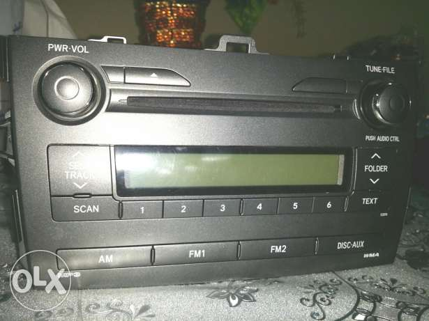 Toyota Corolla CD player