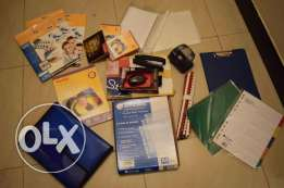 Stationary, Photo paper, mouse, stapler, punch, pouch etc