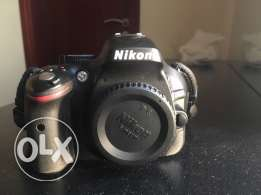 NIKON D5200 with 18-55 mm lens and camera bag