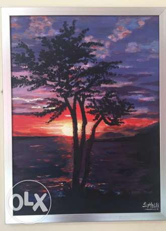 already framed hand made oil painting روي -  1