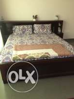 Double Bed wooden with mattress