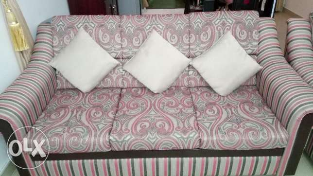 Sofa Set 5 seater ( 3+2 Good Condition+Centre Table & Carpet