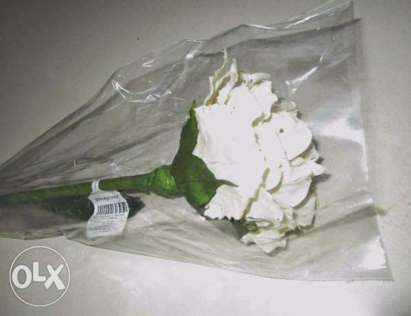 Brand New Artificial Big White Roses, Furniture from Spain
