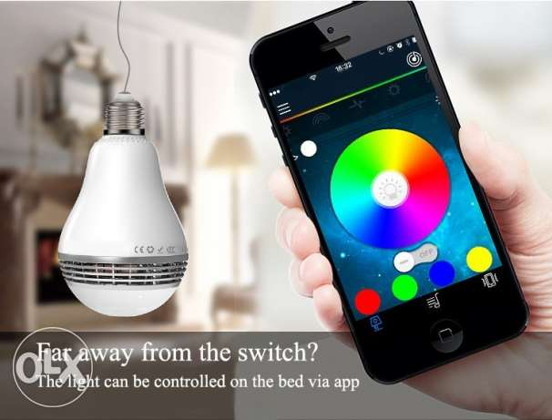 Smart LED Bulb Light Wireless Bluetooth Speaker 110V - 240V E27 السيب -  1