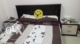 Home center bed set 4 pieces for sale in good condition.