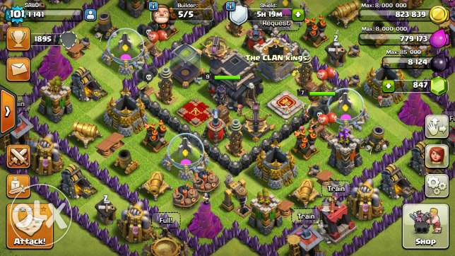 Clash of clans for sell level 101كلاش اوف كلانس