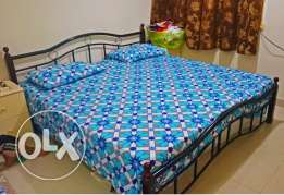 King Size Steel Bed & Medical Mattress -Can be dismantled-Expat leavin